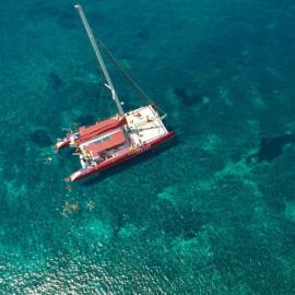 Caldera Tour en Santorini en Catamarán