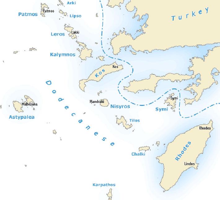 Guía náutica de las islas griegas del Dodecaneso. Navegar por el Dodecaneso, Grecia.