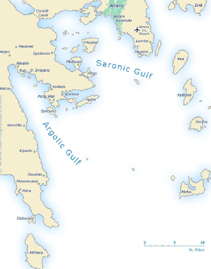 Guía náutica Islas Sarónicas. navegar por el Sarónico.