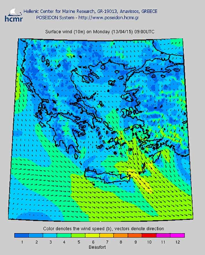 Meteorología náutica en Grecia
