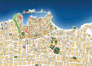 Mapa de Chania