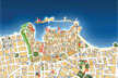 Mapa Plano Ciuda de Chania, Creta