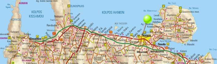 Mapa de Chania, Creta
