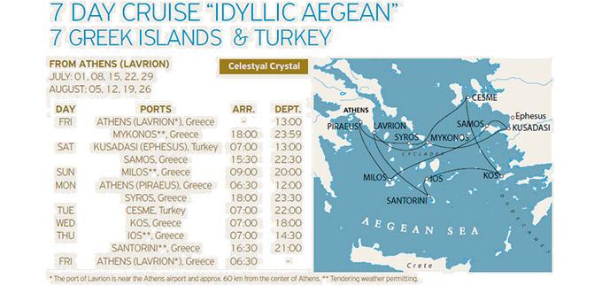 Crucero Islas Griegas y Turquía 7 Días Idílico con Celestyal Cruises