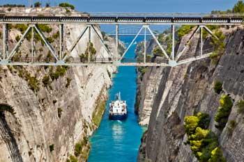 El Canal de Corinto, Grecia