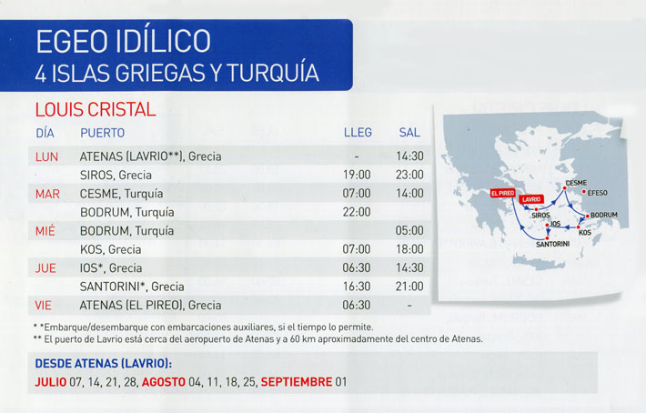Crucero Louis 4 Días Egeo Idílico por el mar Egeo de Grecia y Turquía
