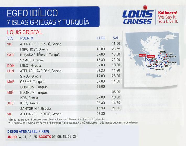 Crucero Louis 7 Días Egeo Idílico por Islas griegas y Turquía