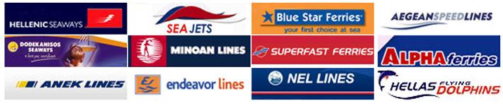 Hellenic Seaways, Sea Jets, Blue Star Ferries, Aegean Speed Lines