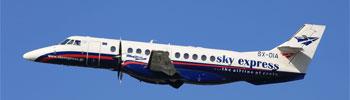 Compañía de aviones Sky Express entre islas griegas