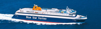Barco Ferry Blue Star Paros en Grecia