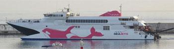 El Mega barco ferry MegaJet de SeaJets en Grecia