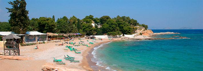 Las playas de Spetses, Islas del Sarónico, Grecia, Islas Griegas