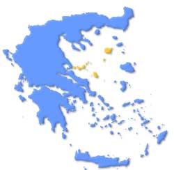 Mapa de situación de las Islas Espóradas en Grecia