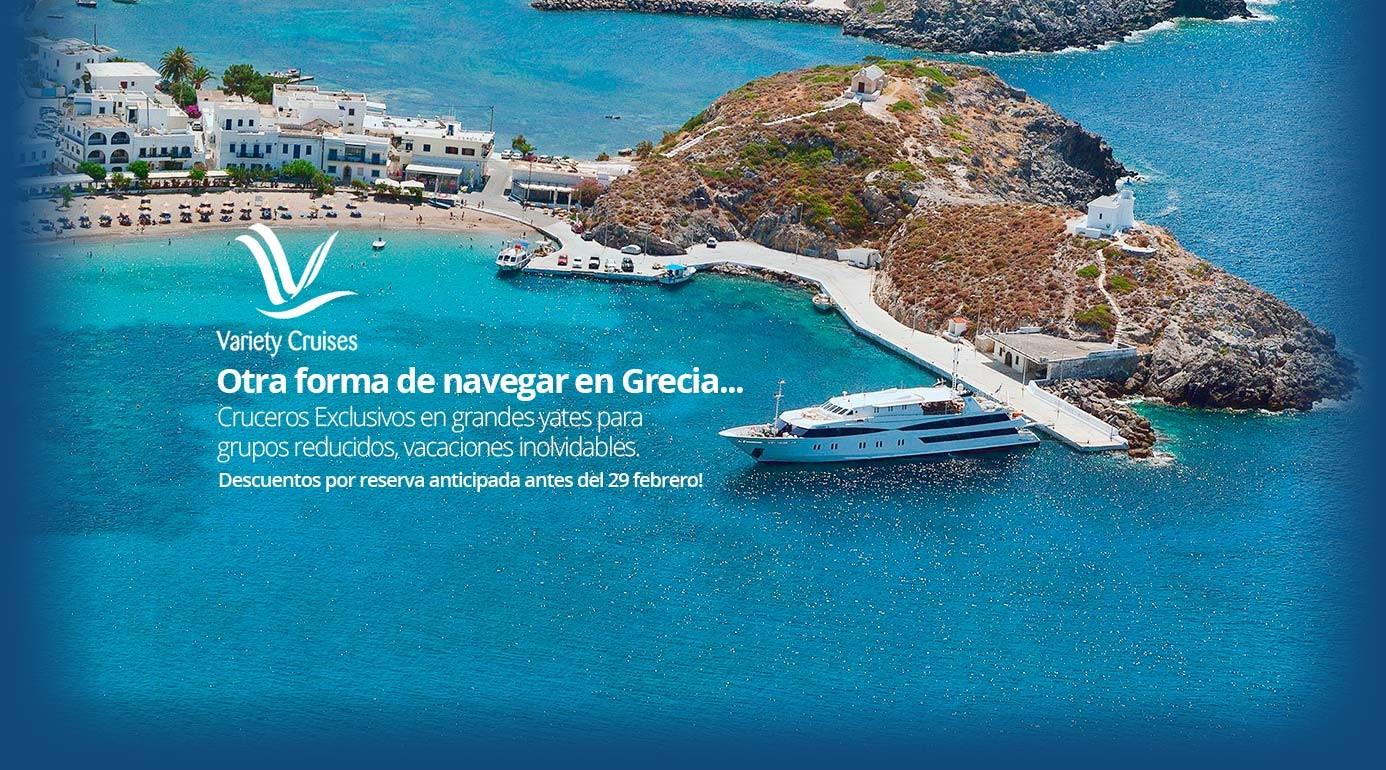 Variety Cruises - Reserva Crucero Islas Griegas Online