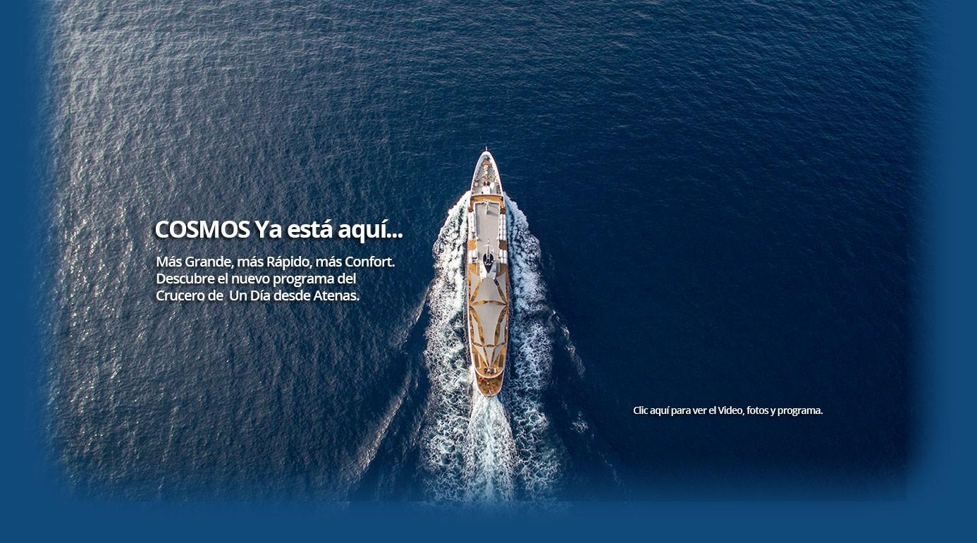 COSMOS, el nuevo buque de Evermore Cruises para el Crucero de un día desde Atenas