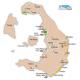 Mapa Santorini - Aeropuerto, Puerto, Hotel