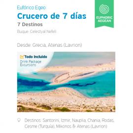 Itinerario Crucero Celestyal 7 días Eufórico - desde Lavrion, Atenas