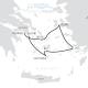 Itinerario Crucero 4 Días - Egeo Idílico, 5 destinos, 4 Islas Griegas y Turquía, desde El Pireo, Atenas.