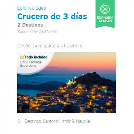 Itinerario Crucero 3 Días Eufórico - 2 destinos desde Lavrion, Atenas