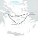 Mapa Crucero 3 Días - Egeo Icónico, Especial Pascua 26 abril 2019 Semana Santa Ortodoxa