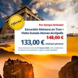 Pack 2 excursiones: Excursión a Meteora + Visita Atenas Acrópolis en Español