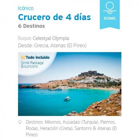 Crucero Celestyal 4 noches Icónico desde Atenas, Residentes Latinoamérica