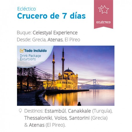 Crucero Celestyal 7 noches Ecléctico desde Atenas, Residentes Latinoamérica