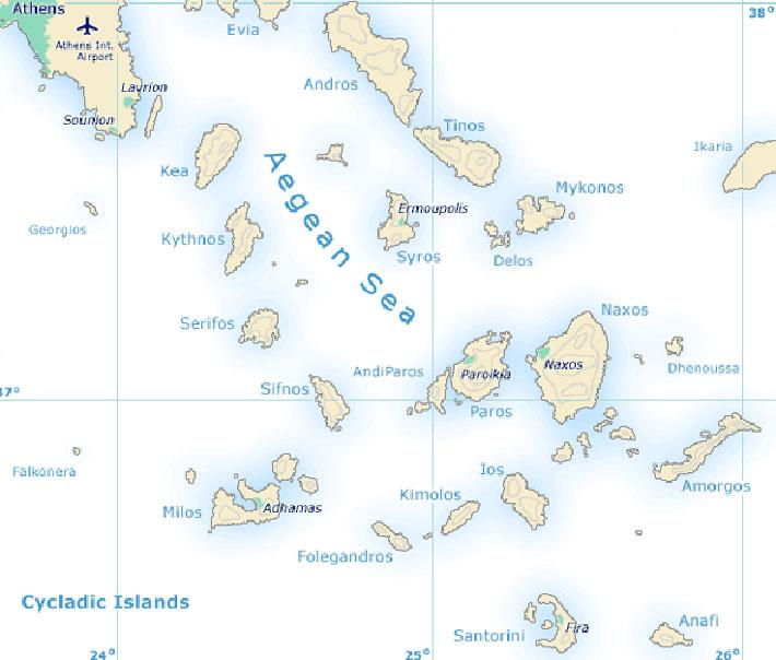 Guía náutica de las islas griegas Cícladas. Navegar en las Cícladas