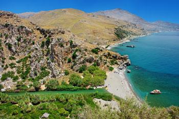 Playa de Preveli, Grecia