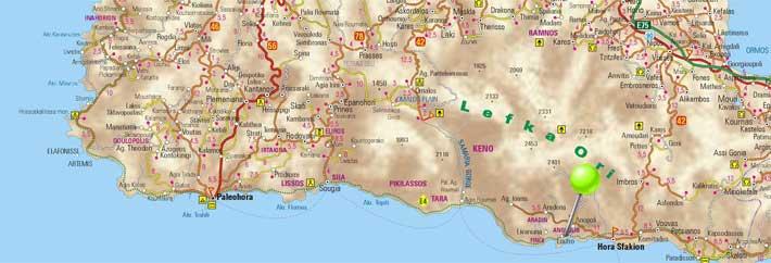 Mapa de Loutro, Creta