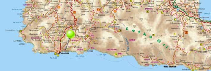 Mapa de Paleochora, Creta
