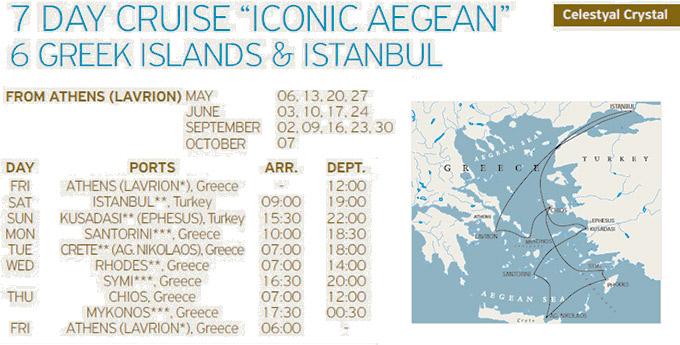 Crucero Islas Griegas Turquía Estambul, Celestyal Cruises de 7 días Icónico