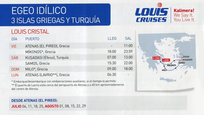 Crucero Louis 3 Días Idílico | El mar Egeo de Grecia y Turquía