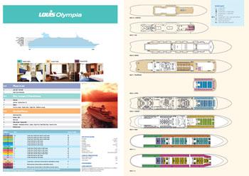 Celestyal Olympia | Descripcion Camarotes | Plano de Cubiertas