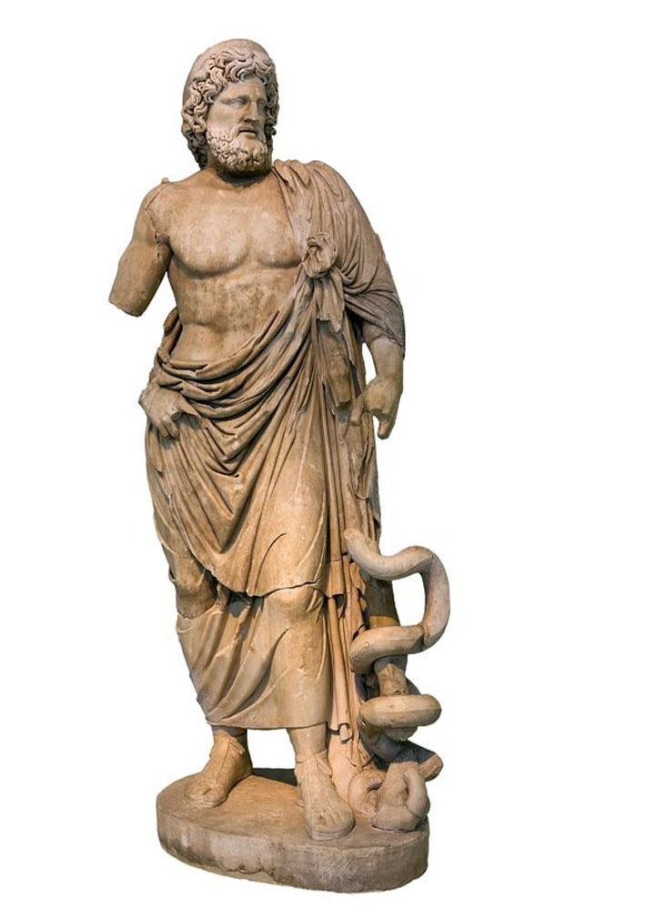 Asclepion, dios griego de la medicina