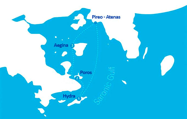 Itinerario del Crucero desde Atenas