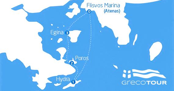 Itinerario Tour Islas Evermore desde Atenas