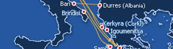 Barcos Ferry de Italia a Grecia, Ferry de Grecia a Italia