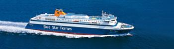 El barco ferry Blue Star Ithaki en Grecia