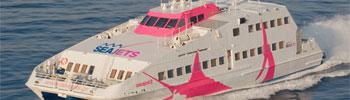 Barco ferry rápido SeaJet 2 de la SeaJets en Grecia