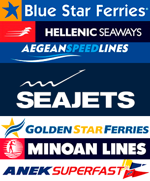 Seajets, Blue Star Ferries, Aegean Speed Lines, Minoan, Golden Star Ferries, Hellenic Seaways