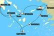 Rutas marítimas en Grecia de barcos ferry