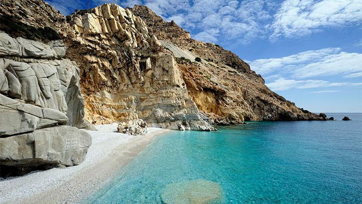 La isla de Ikaria, Islas del Egeo Norte, Grecia, Islas Griegas