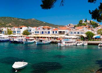La isla de Skiathos, islas Espóradas, Grecia, Islas Griegas