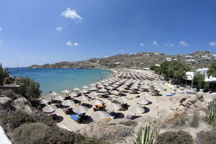 Playas de Mykonos: Playa Super Paradise