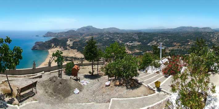 Vistas desde el monasterio Panagia Tsambika, Rodas