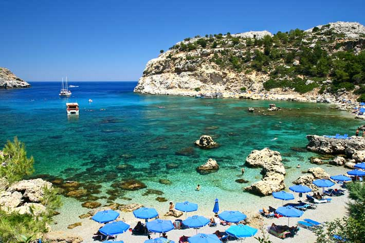 playas de isla rodas grecia