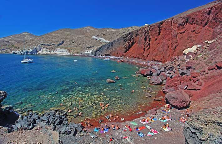 Playa Roja de Santorini (Reb Beach)