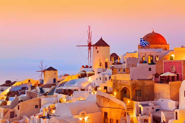 Puesta de Sol en Oia (Ia) en Santorini