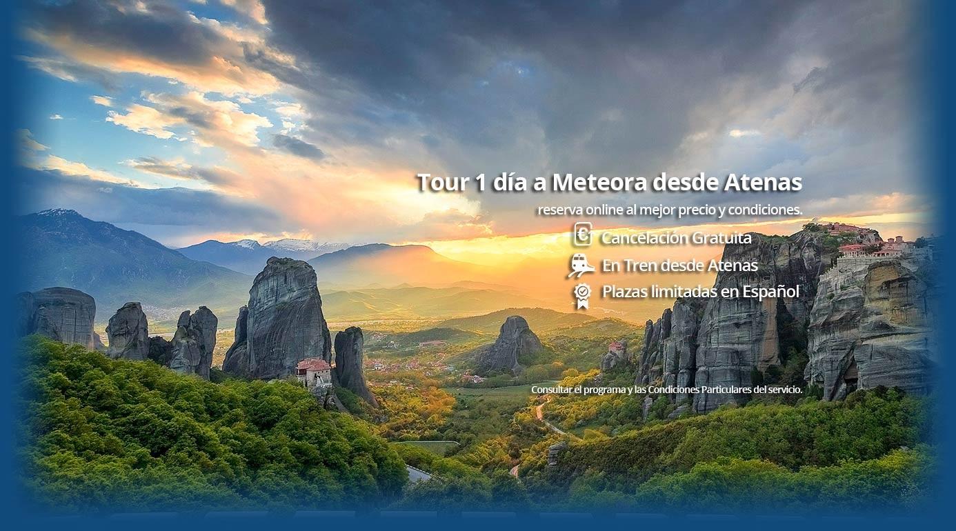 Tour 1 día a Meteora desde Atenas en Tren en Español